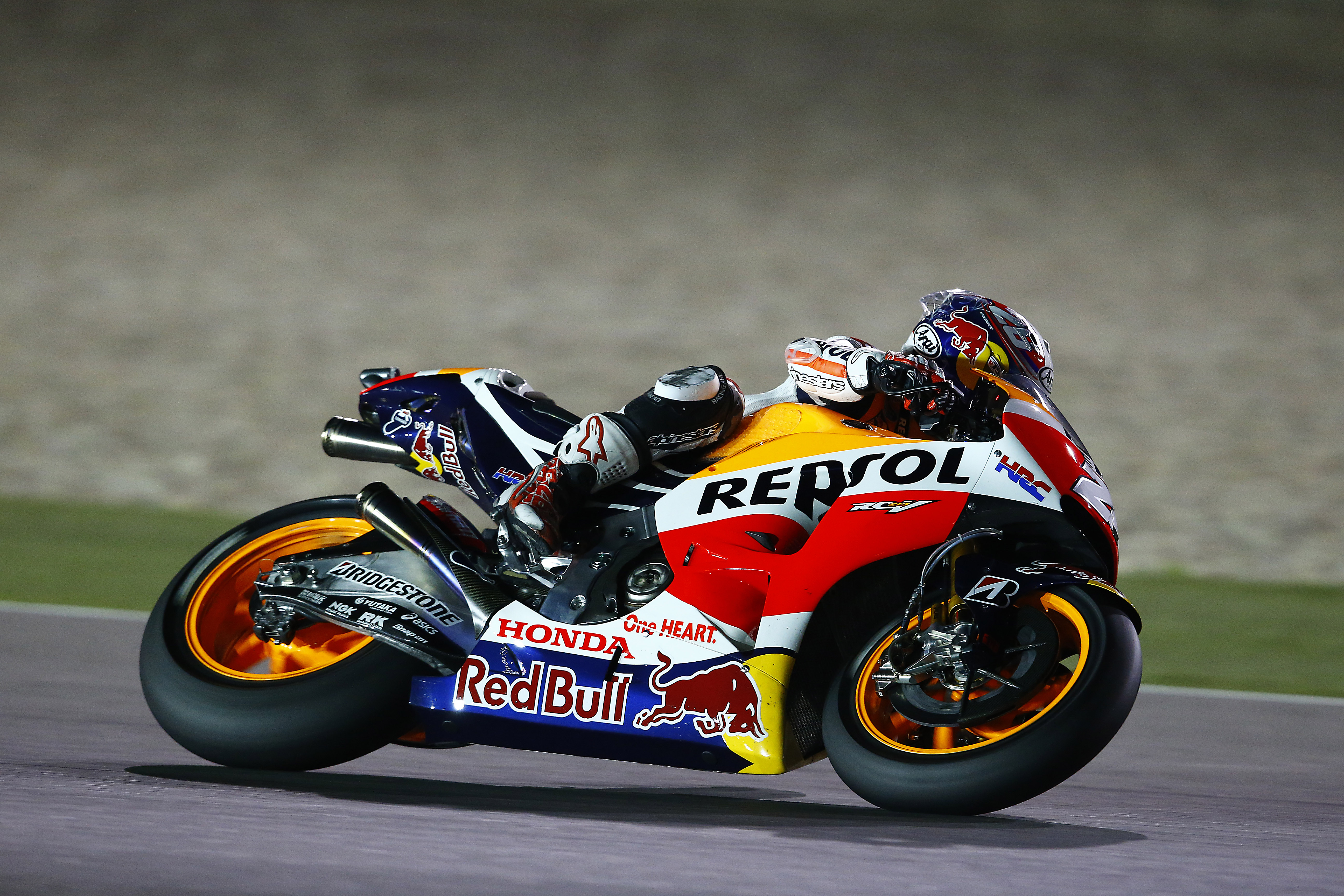 Double Repsol Honda front row for opening GP of 2015 | MotoGP