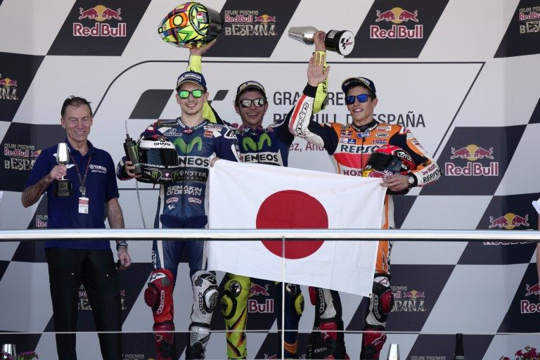 Positive podium for Marquez at Jerez, fourth place for Pedrosa | MotoGP