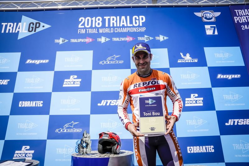 Toni Bou, amid the sporting elite